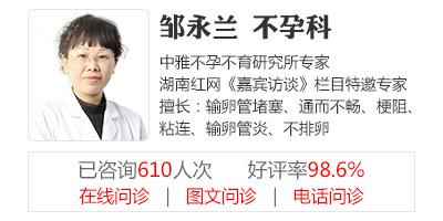 长沙长江医院生殖健康不孕不育专家邹永兰